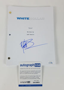 White Collar Matt Bomer Autographed Signed Screenplay Script