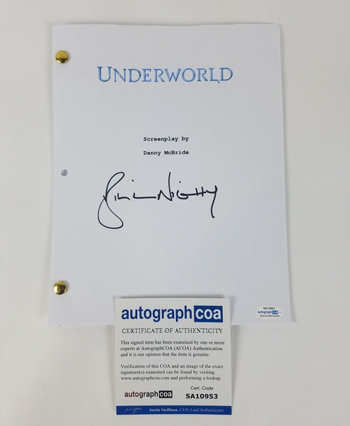 Underworld Bill Nighy Autographed Signed Screenplay Script
