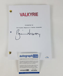 Valkyrie Bill Nighy Autographed Signed Script