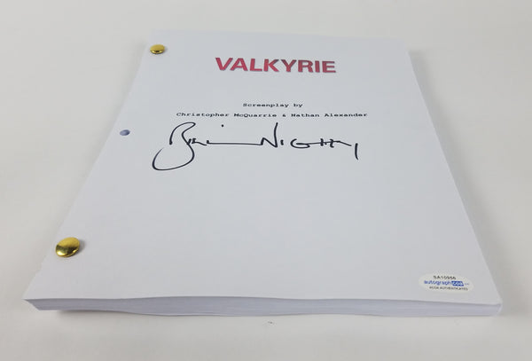 Valkyrie Bill Nighy Autographed Signed Script ACOA