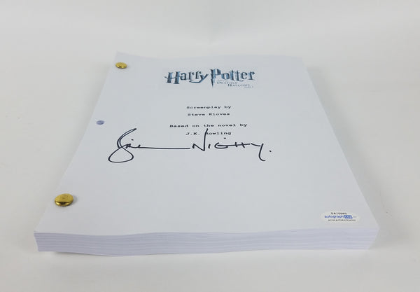 Harry Potter Bill Nighy Autograph Script Screenplay Deathly Hallows Part 1 ACOA