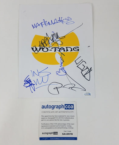 Wu-Tang Clan Autographed X7 Signed RZA Method Man +
