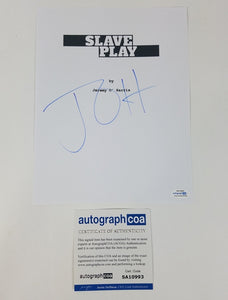 Jeremy O'Harris Autographed Signed  Slave Play Theater Script Cover