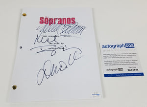 Sopranos Cast Autographed x3 Autographed Signed Script Screenplay