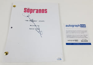 Sopranos John Ventimiglia Autographed Signed Script Screenplay