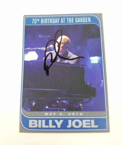 Billy Joel Autographed Signed MSG Trading Card Madison Square Garden