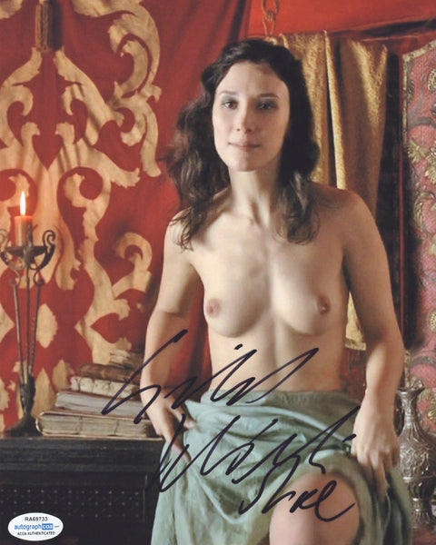 Game of Thrones Sibel Kekilli Autographed 8x10 Photo Nude Sexy Topless