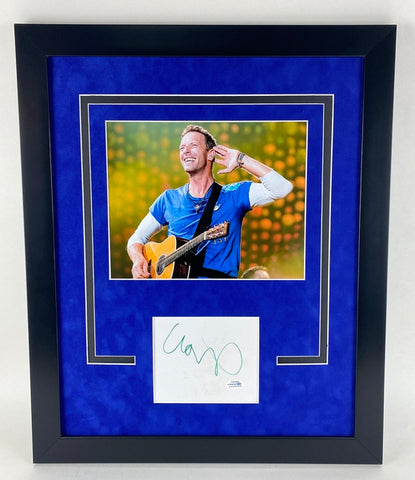 Coldplay Chris Martin Autographed Signed 16x20 Framed Photo Display
