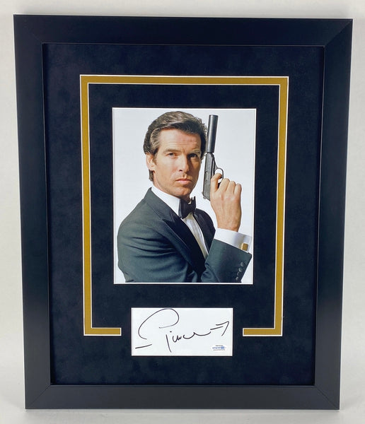 James Bond Pierce Brosnan Autographed Signed 16x20 Framed Photo Display 007