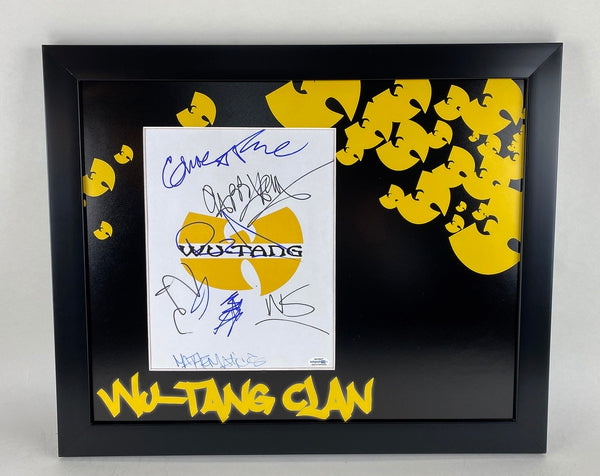 Wu-Tang Clan Autographed Signed 16x20 Framed Display