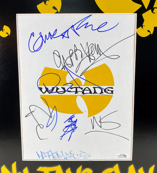 Wu-Tang Clan Autographed Signed 16x20 Framed Display ACOA