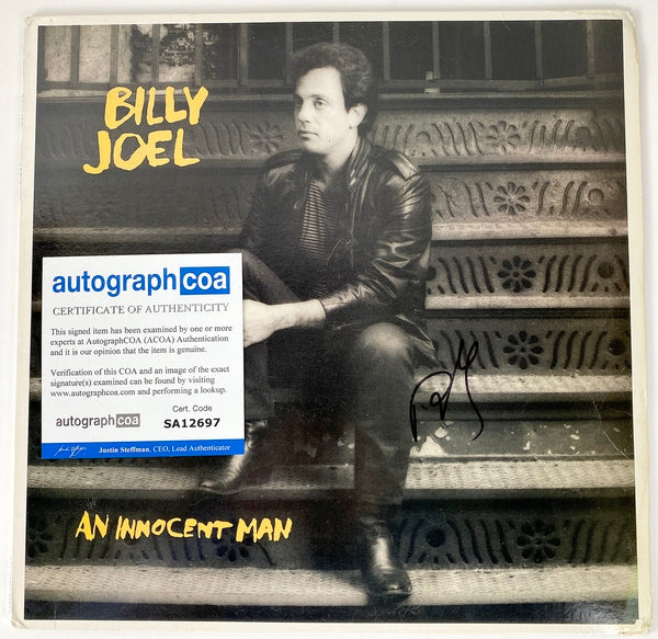 Billy Joel Autographed Signed An Innocent Man LP Vinyl Record