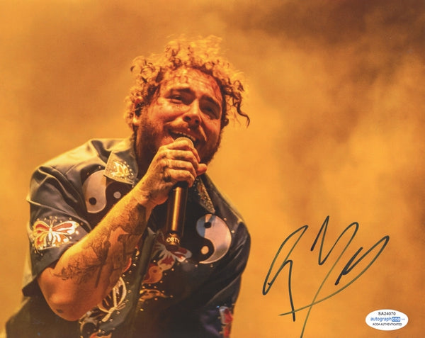 Post Malone Autographed Signed 8x10 Photo Rapper Singer
