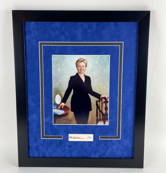 Hillary Clinton Autographed 16x20 Framed Display President First Lady