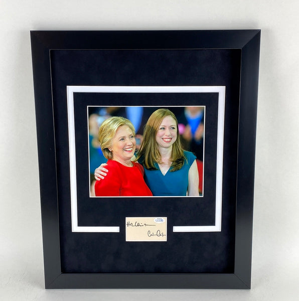 Hillary Clinton & Chelsea Autographed Signed 16x20 Framed Display