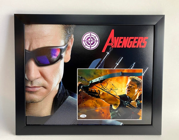 Avengers Jeremy Renner Autographed Signed 16x20 Framed Display Hawkeye