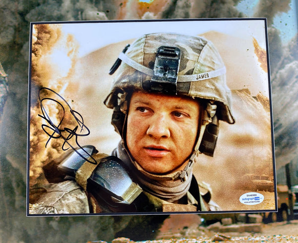The Hurt Locker Jeremy Renner Autographed Signed 16x20 Framed Display ACOA