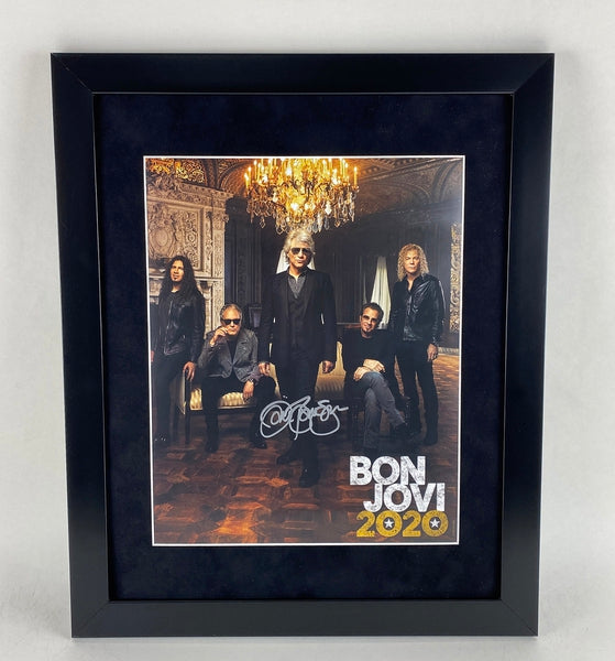 Jon Bon Jovi Autographed Signed 16x20 Framed Display