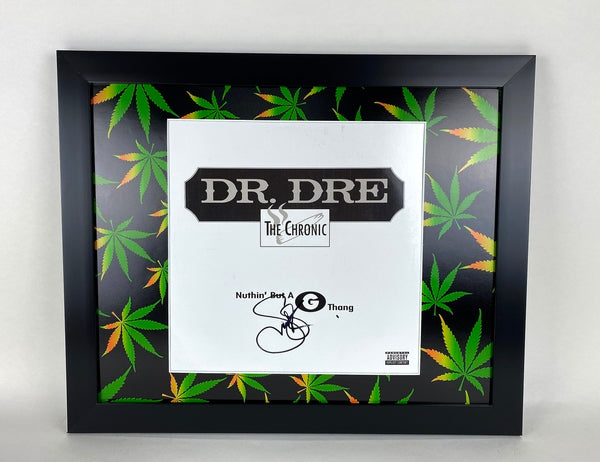 The Chronic Snoop Dogg Autographed Signed 16x20 Frame Display LP Dr. Dre