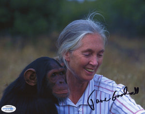 Jane Goodall Autographed Signed 8x10 Photo