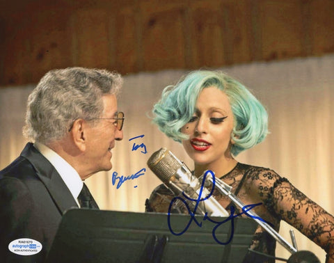 Lady Gaga & Tony Bennett Autographed Signed 8x10 Photo