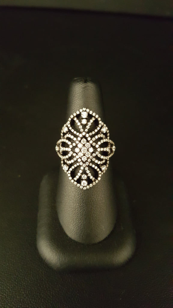 18K Black Rhodium Diamond Cocktail Ring