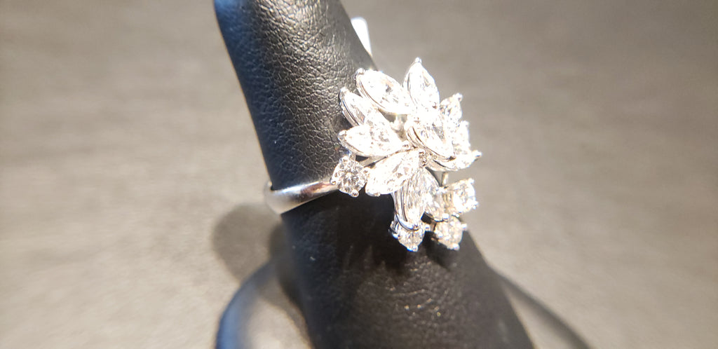 Unique Diamond Cocktail Ring