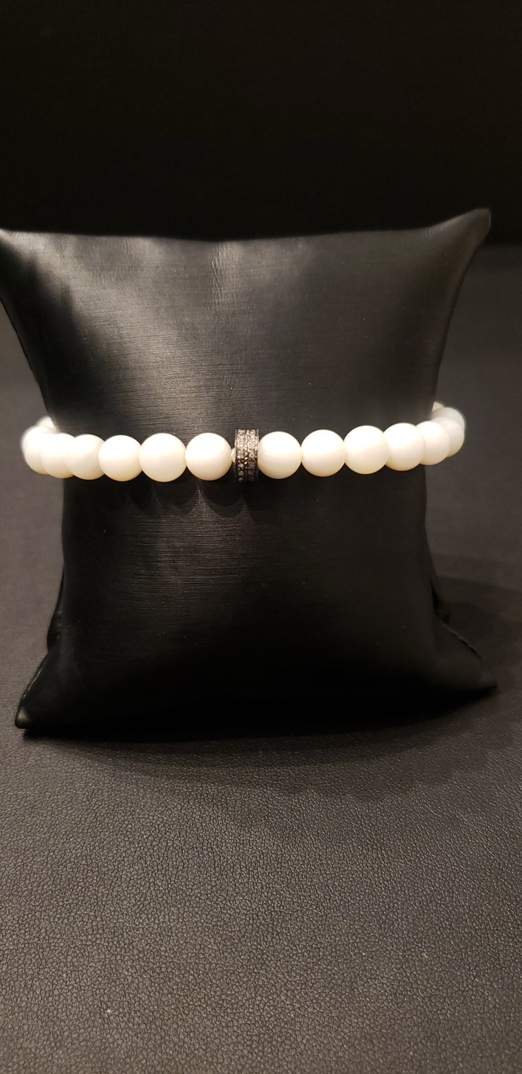 White River Shell Beaded Bracelet
