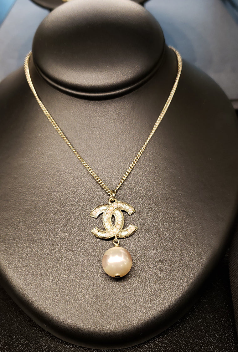 "Pearl ""CC"" Necklace"