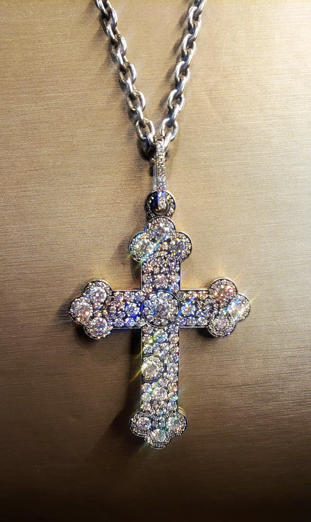 4.92CTW Diamond Cross