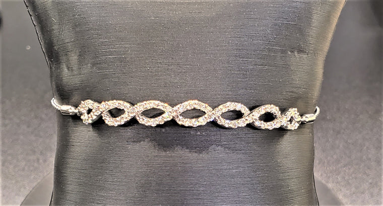 Diamond Adjustable Bolo Bracelet