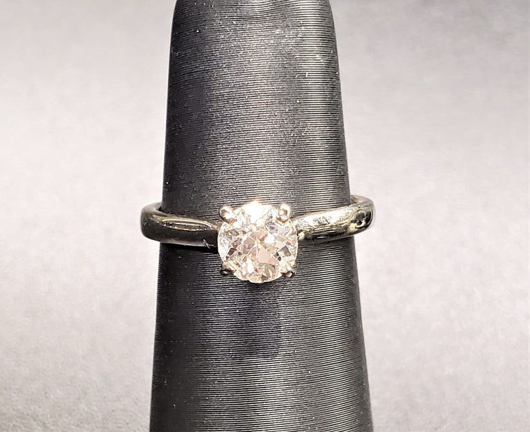 0.80CT European Cut Solitaire