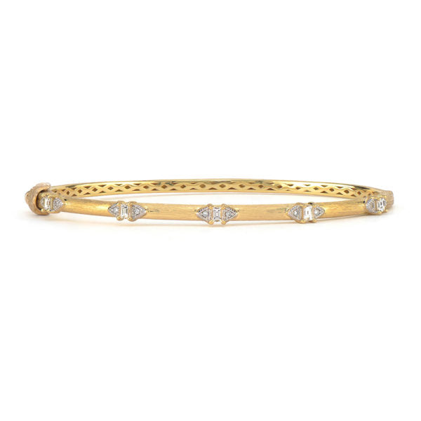 Lisse Half Kite Baguette Brushed Bangle