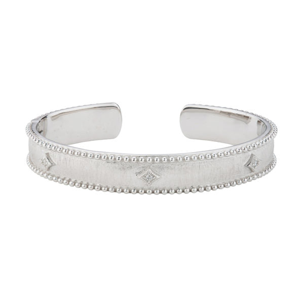 Silver Narrow Nina Beaded Kite Cuff