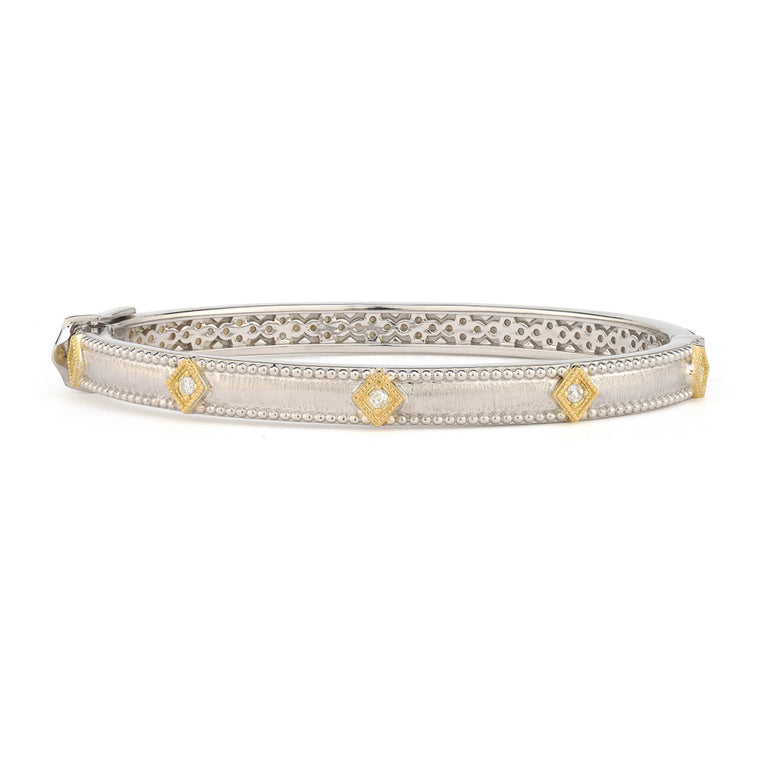 Mixed Metal Lisse Simple Kite Bangle