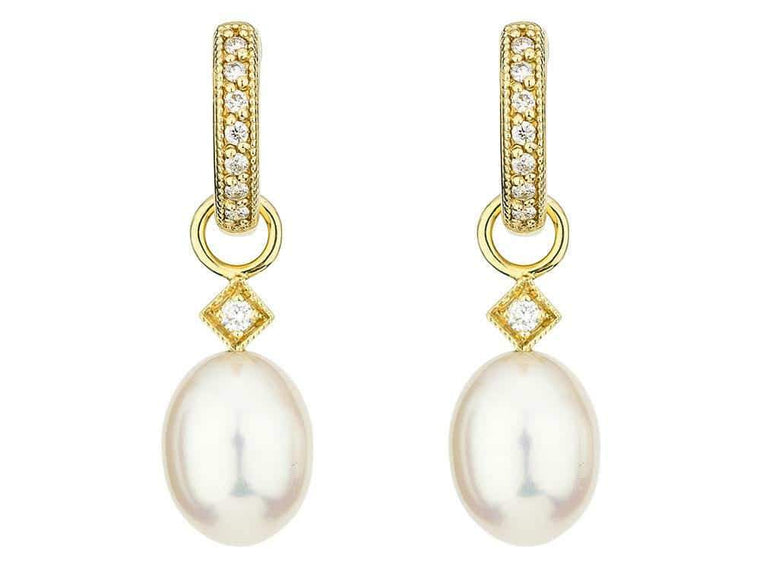 Pearl Briolette Earring Charms