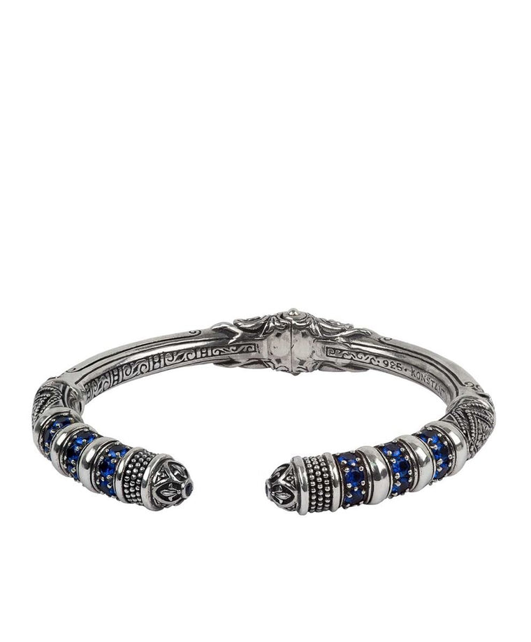 Sterling Silver Blue Spinel Bracelet