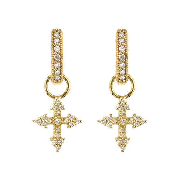 Provence Champagne Tiny Cross Earring Charms