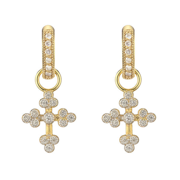 Tiny Provence Cross Earring Charms