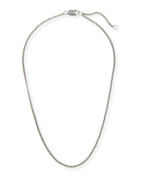 "Sterling Silver 1.0mm 16""-18"" Chain"