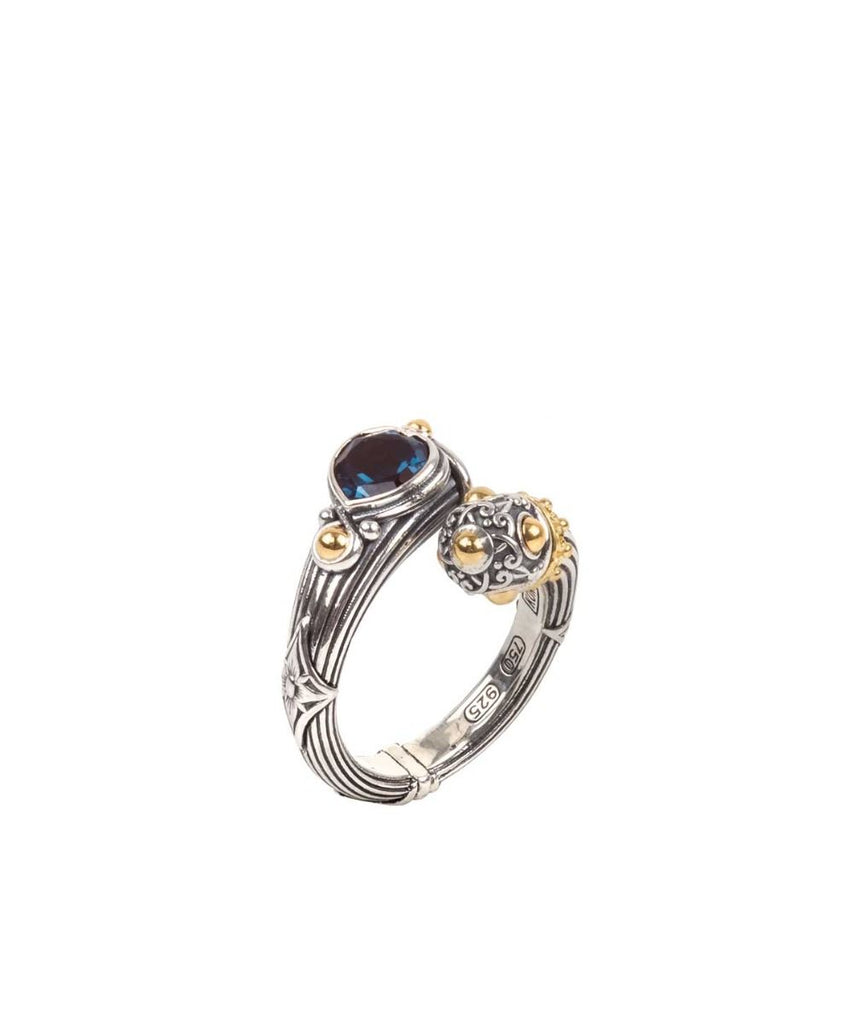 Sterling Silver & 18k Gold Ring
