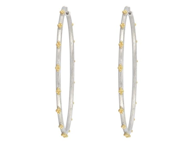 Extra Large Beaded Quad Hoop Earrings