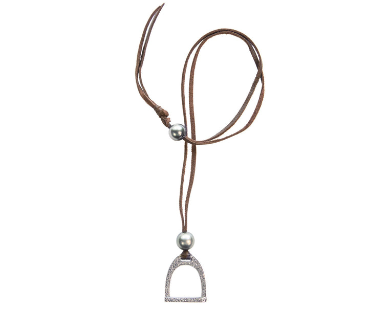 Demure Stallion Stirrup Necklace