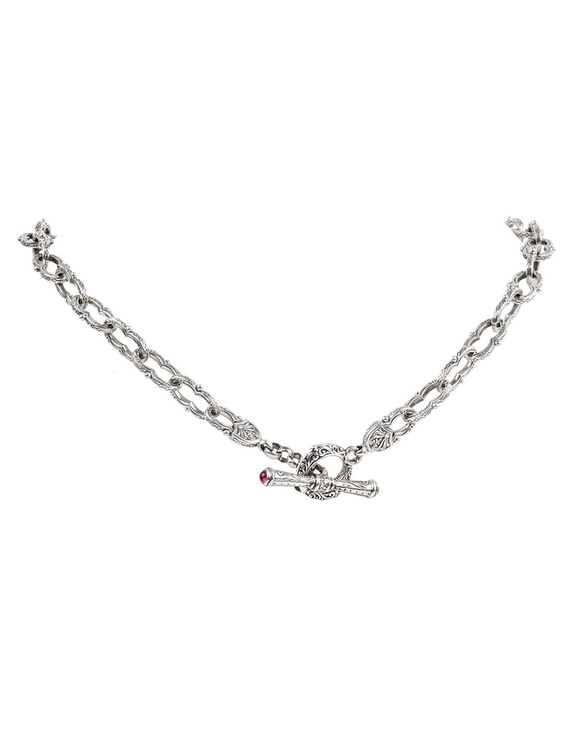 Sterling Silver Figure 8 Link Necklace