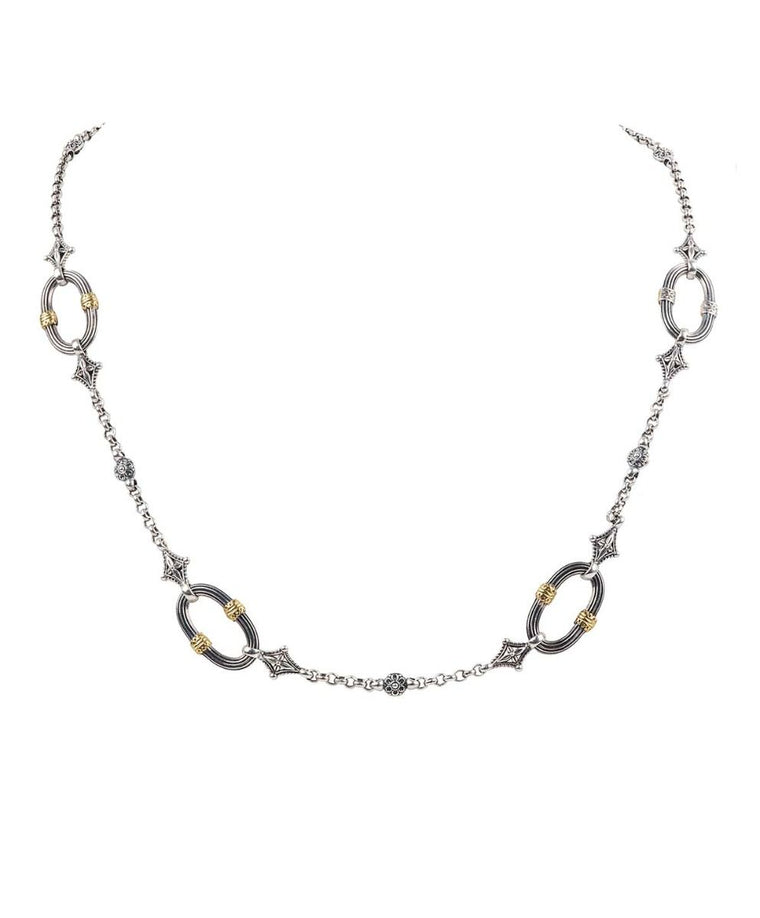 Sterling Silver & 18k Gold Necklace