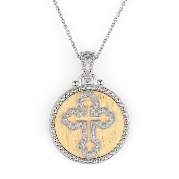 Mixed Metal 18K Gold Guinevere Pendant