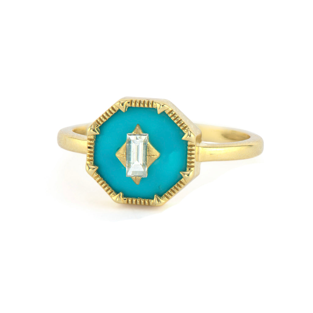 Lisse Ring With Diamond Center