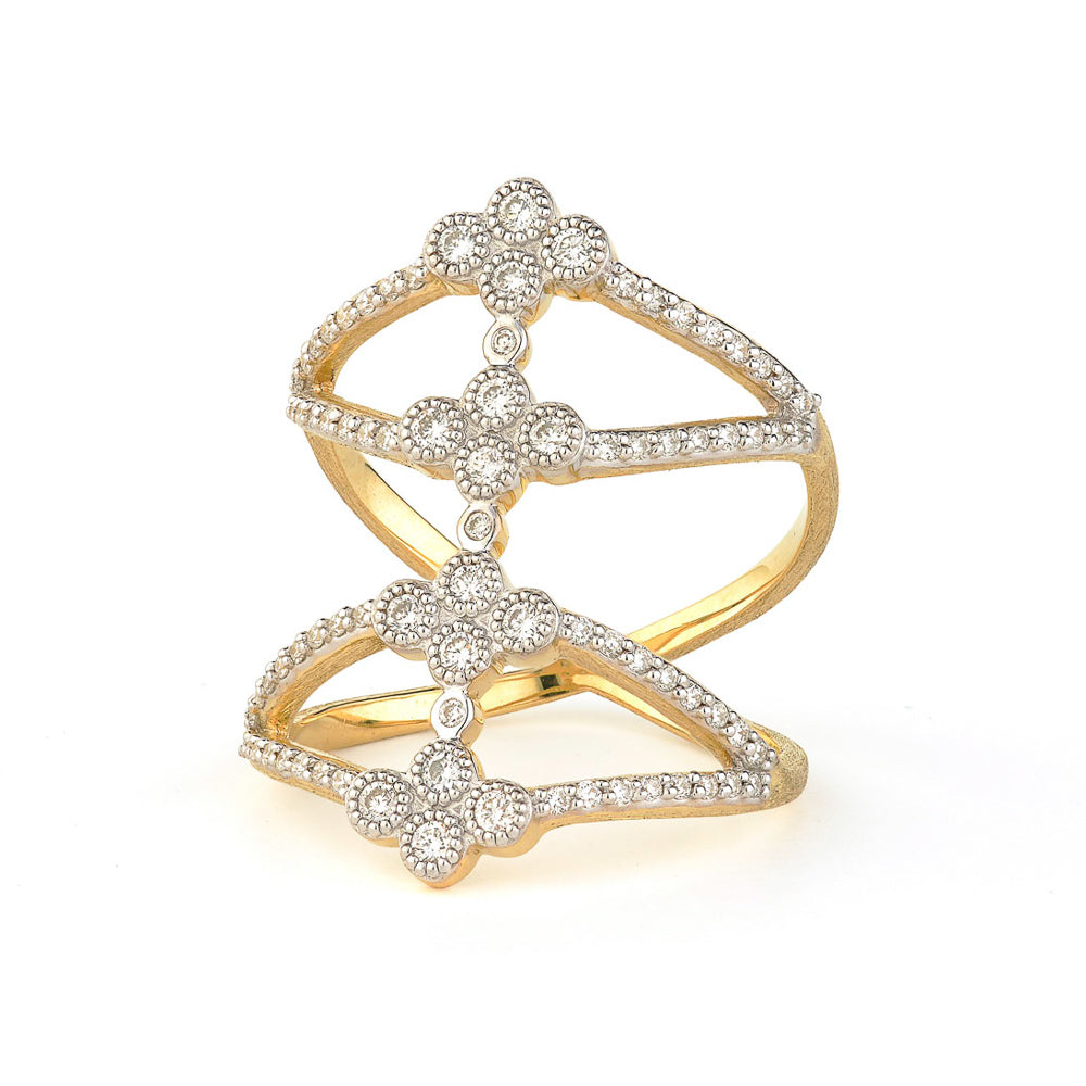 Provence Open Four Quad Pave Band