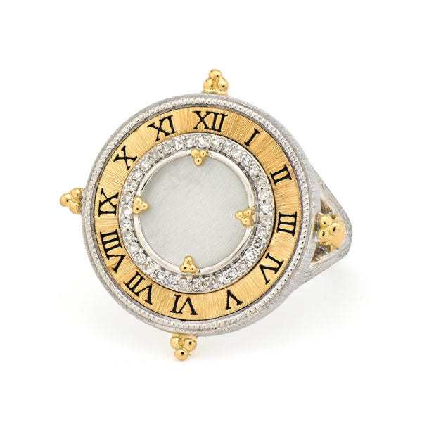 Time Collection Large Pocket Watch Ring