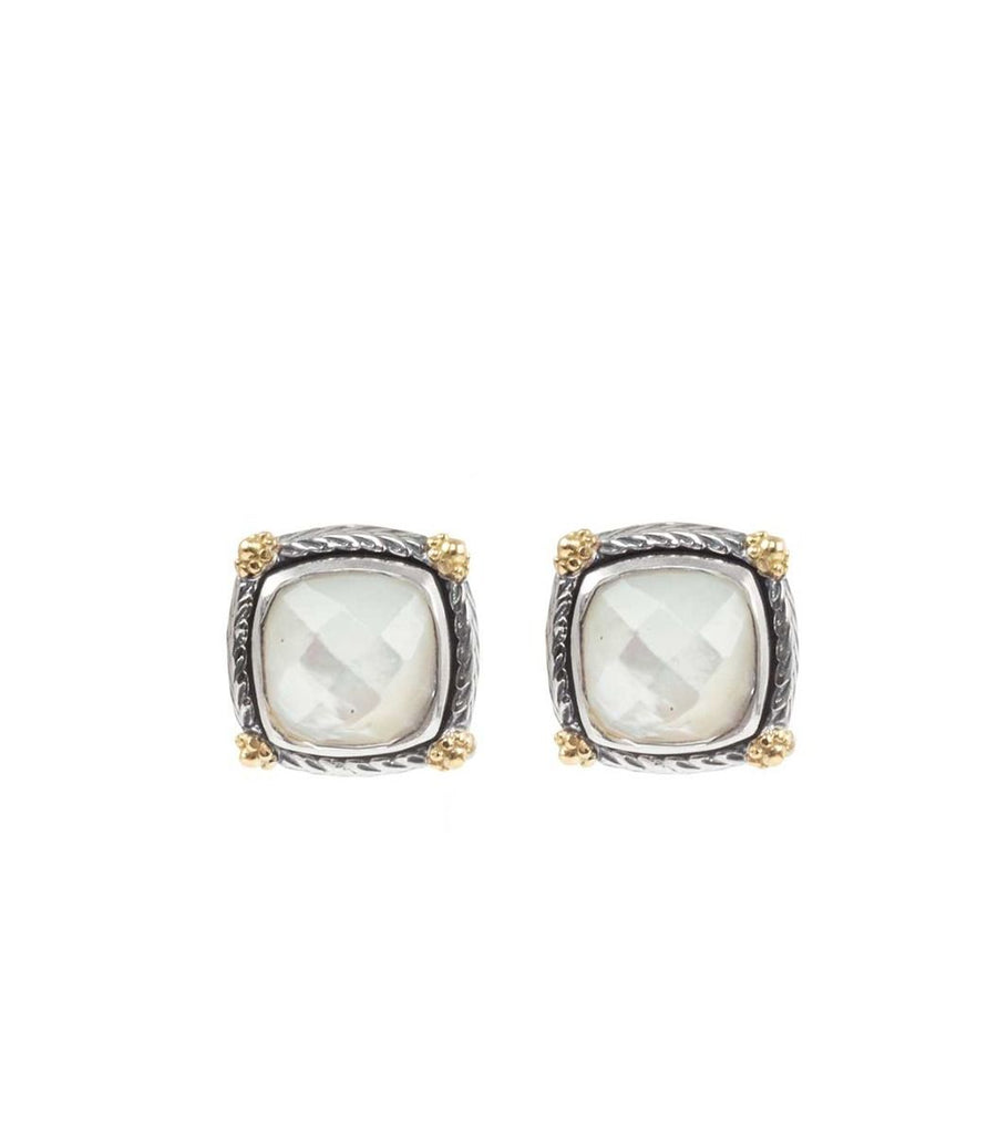 Sterling Silver & 18kt Gold Earrings